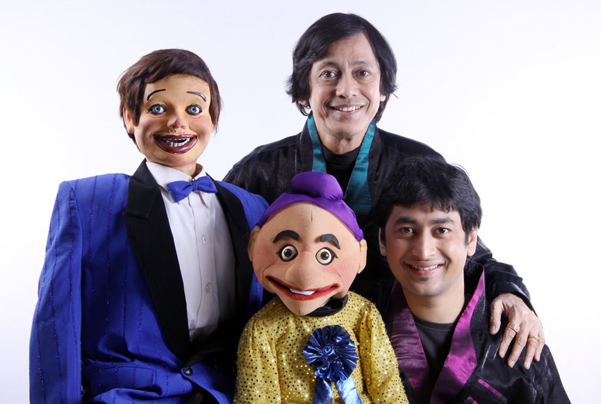 Ramdas Padhye and son Satyajit who are Puppeteers in Mumbai