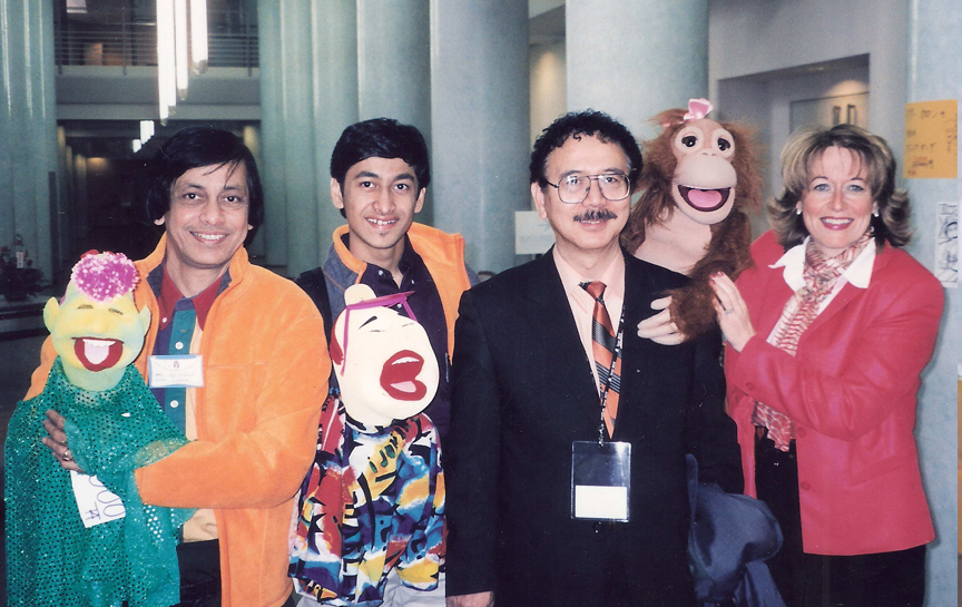 Ramdas with son Satyajit at Japan Ventriloquist Convention