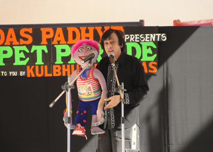 Ventriloquist Ramdas Padhye performing in UAE