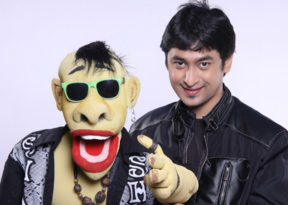 Ventriloquist Satyajit Padhye with his puppet Aslam Bhai