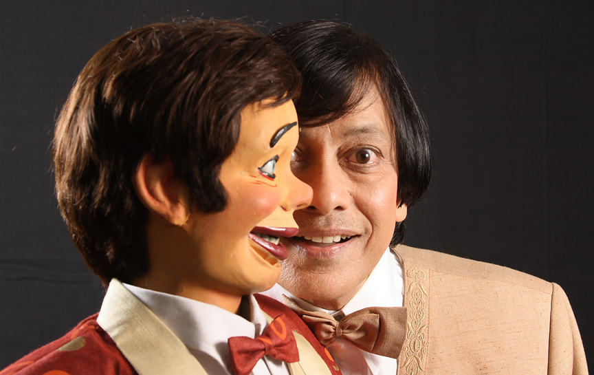 Ventriloquist and Puppeteer Ramdas Padhye with his puppet Ardhavatrao