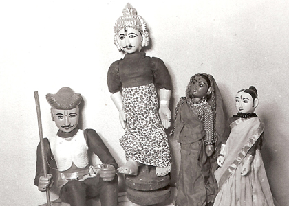 Traditional Indian Puppets of Dramatist Vishnudas Bhave designed by him 150 Years Old
