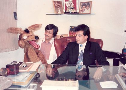 Ramdas Padhye with Actor Jeetendra
